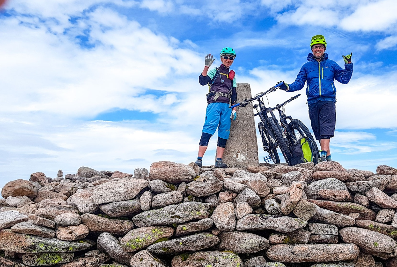 tom and steph from tom hutton mtb are your guides for this scotland adventure