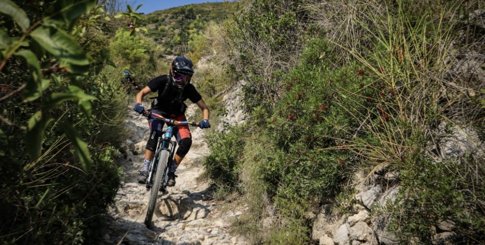 The rough trails in Finale Ligure