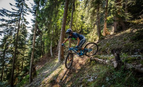 Sandra Boerner switchback trail riding switzerland