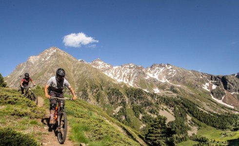 Epic singletrack in Pila Vallee D'aosta