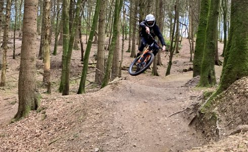 The boss shredding Windhill Bikepark