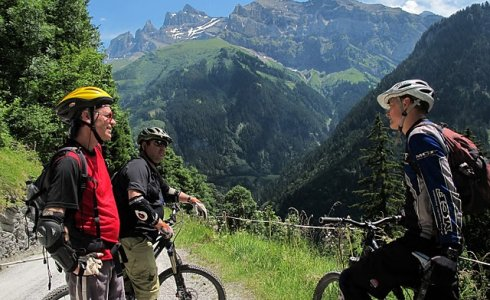 singletrack in champery