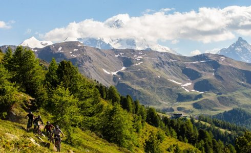 Pila has some of the best mountain biking in Aosta outside of the bike park
