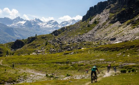 La Thuile singletrack with a guide