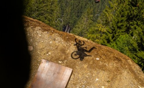 Slopestyle jumps Les Gets