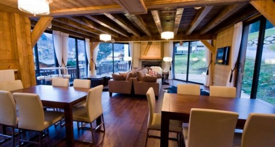 Chalet Ice luxury accommodation in Morzine lounge area
