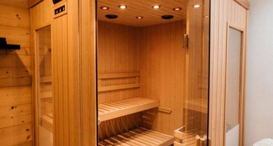 Chalet Ice luxury accommodation in Morzine sauna room