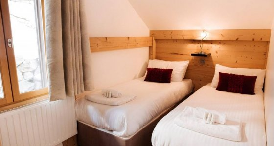 Chalet Ice luxury accommodation in Morzine twin bedroom