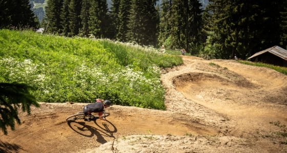 endless berms in morzine for your mountain bike holiday