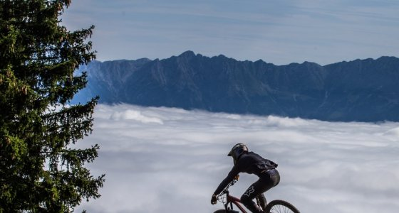 flying high above he clouds in Leogang