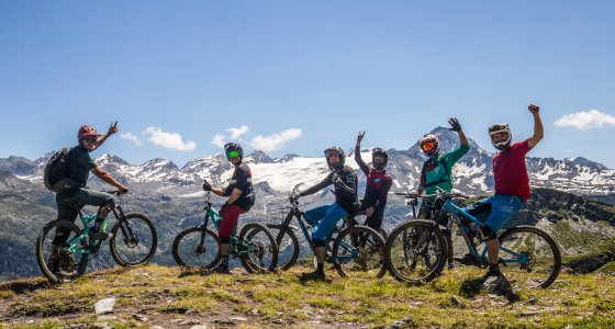 our group stoked on their day in la thuile