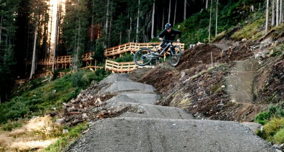 matthias garber on new jump track in schladming