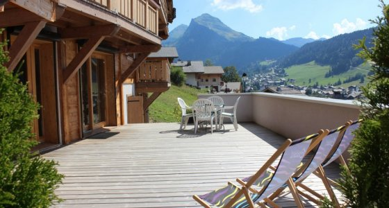 mtb friendly accom huge balcony morzine