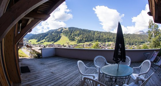big balcony for the kids sunny summer morzine