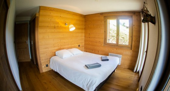 double bed in morzine family holiday