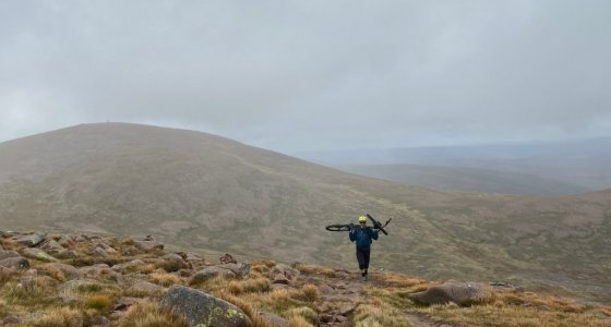 hike a bike in the cairngorms