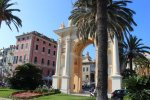 The town square in Finale Ligure