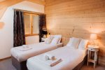 Chalet Ice luxury accommodation in Morzine twin berdroom
