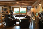 chalet front room in morzine