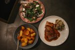pork belly and sides finale ligure catered holiday