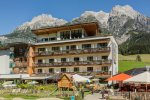 hotel in leogang at the base of the trails
