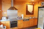 kitchen in self catered morzine mtb beds