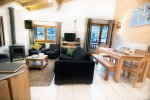 Cosy lounge and dining area in Morzine MTB Holiday