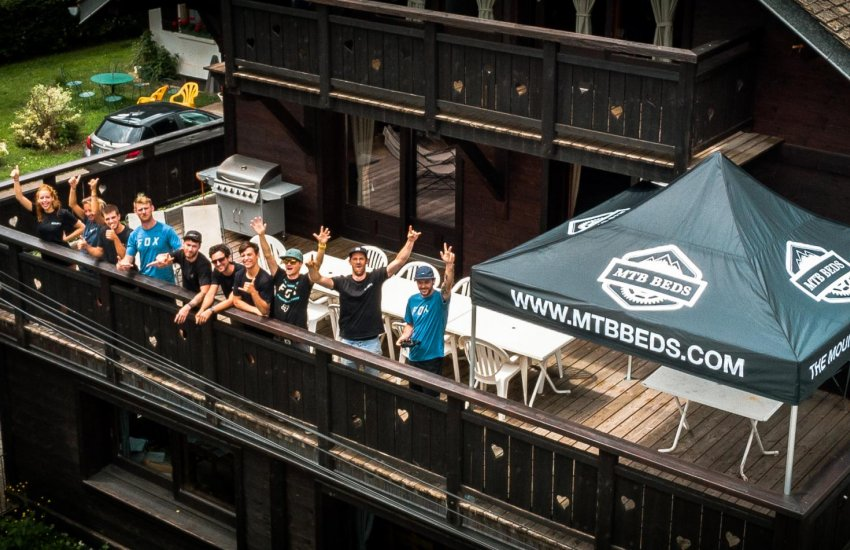 The MTB Beds Team on the Balcony